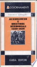 Mezzogiorno e questione meridionale (1860-1980) Book Cover