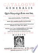 1625 - Catalogo dei Santi che non sono nel Martirologio Romano - P. Filippo Ferrario[Biblioteca Nazionale austriaca]