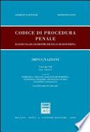 Codice di procedura penale. Rassegna di giurisprudenza e di dottrina.