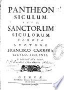 1679 - Carrera - Phanteon Siculum sive Sanctorum Siculorum
