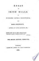 maria edgeworth essay on irish bulls Maria edgeworth born: 1 who also collaborated with her in the essay on irish bulls (1802) miss edgeworth's first in 1813 maria and.